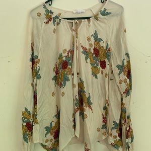 Buckle Floral Flowy Shirt NWOT